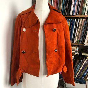 Vintage Blood Orange Suede Jacket